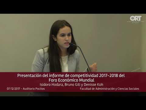 Presentación del Índice de Competitividad Global 2017-2018 del Foro Económico Mundial