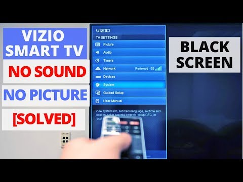 How To Fix Vizio Tv Black Screen With Sound Vizio Tv Common Problems Fixes Youtube