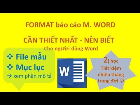 6.1. Thủ thuật format Word hữu ích nhất cần thiết nhất phải biết (P1)