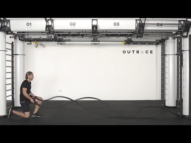 Easy Gym Rope Double Arm Waves & Lunge
