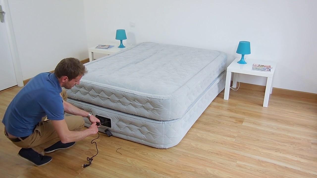 Materasso gonfiabile elettrico 2 piazze intex supreme bed fiber tech