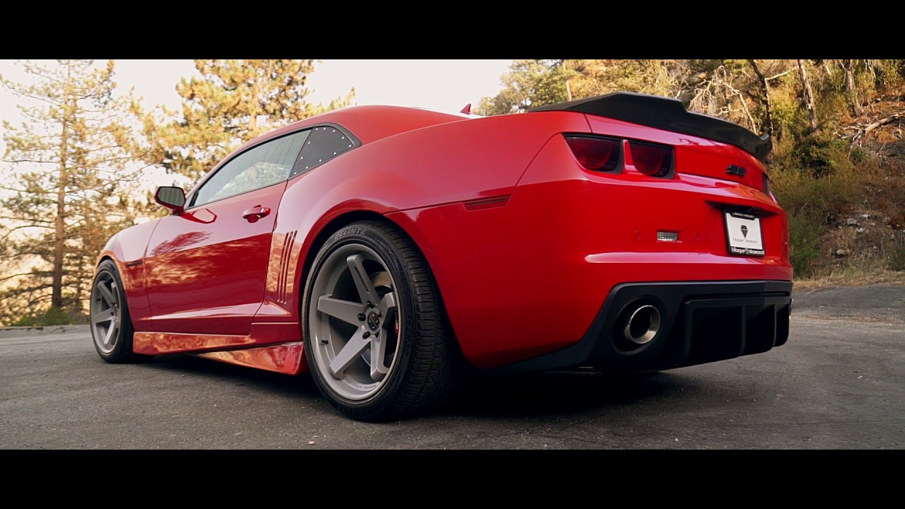 2013 Chevy Camaro Ss Fitted With Staggered 20 Inch Bd 21