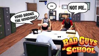 SIMASGAMER AND GUST BULLYING SGDAD in BAD GUYS AT SCHOOL SIMULATOR