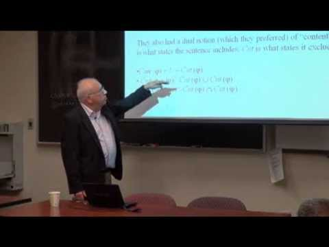 "Michael Dunn: ""Logic, Information, and Computation"""