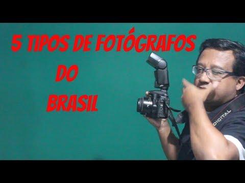 Tipos de FOTÓGRAFOS do Brasil. Types of Photographer by Brazil.