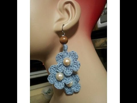 Crochet Tutorial- How To- Dangle Flower Earrings