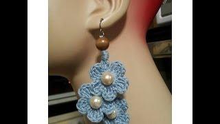 Crochet Tutorial- How To- Dangle Flower Earrings