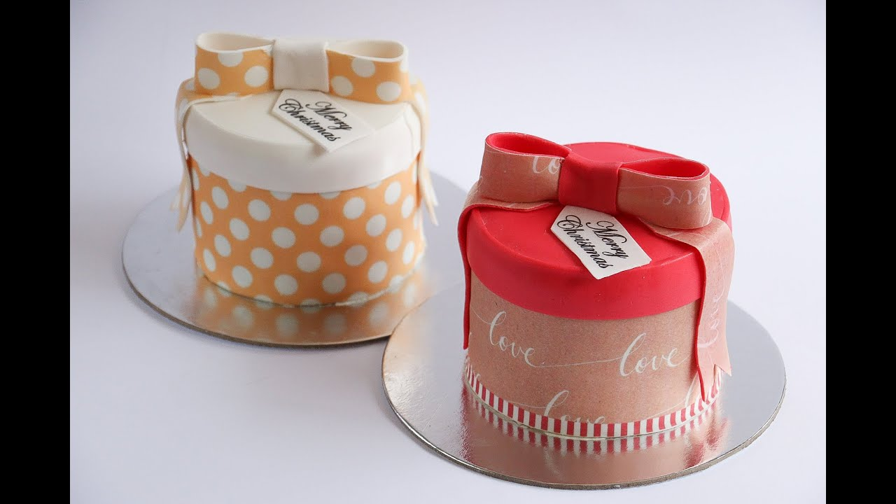 Mini Gift Box Cakes Decorated With Icing Sheets- Rosie's Dessert ...