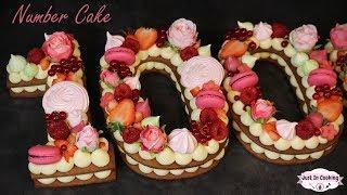 Recette de Number Cake ou Gâteau Chiffre : Mon gâteau des 100 000 abonnés !