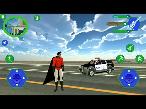 Flying Superhero (by Wallace Lieakote) - Flying SuperHero Rope Vegas Rescue | Android GamePlay