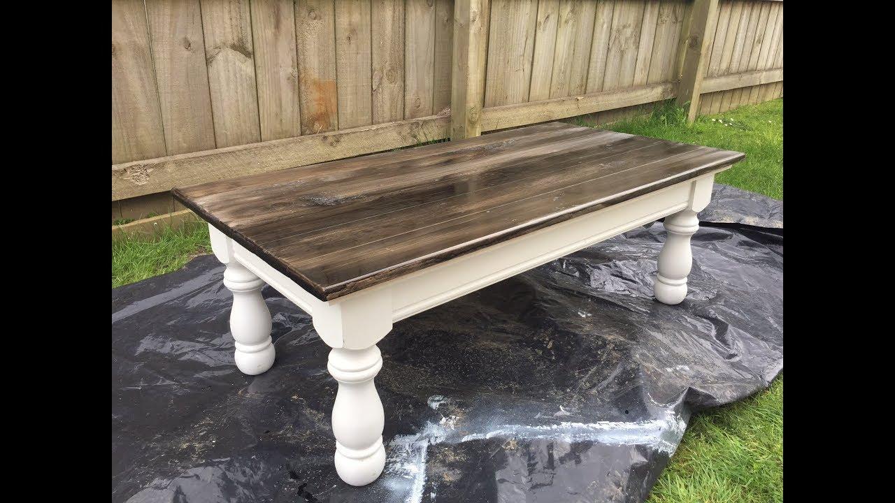 barn style coffee table refurbished