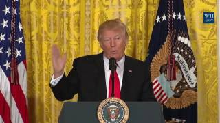 President Donald Trump ATTACKS MEDIA AND THE PRESS HARD The level of dishonesty is out of control