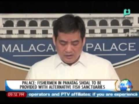 Palace: Fishermen in Panatag Shoal to be provided with alternative fish sanctuaries - 3/3/14