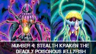 Yugioh Number 4 Stealth Kragen the Deadly Poisonous Jellyfish & Stealth Kragen Ephyra