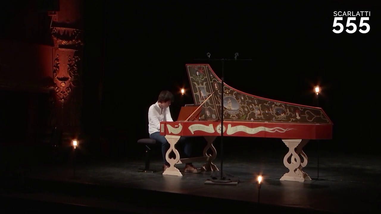 Scarlatti : Sonate pour clavecin en ut mineur K 99 L 317(Allegro), par Justin Taylor - #Scarlatti555