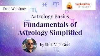 fundamentals of jyotish saral simplified by shri v p goel