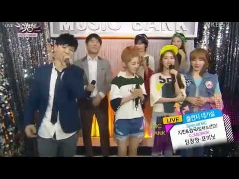 140321 Lim Chang Jung & 4Minute - Interview @ Music Bank (Live)