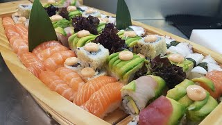 Sushi goodness in the boat
