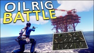 FIGHTING for the OIL RIG! - Rust Solo #4
