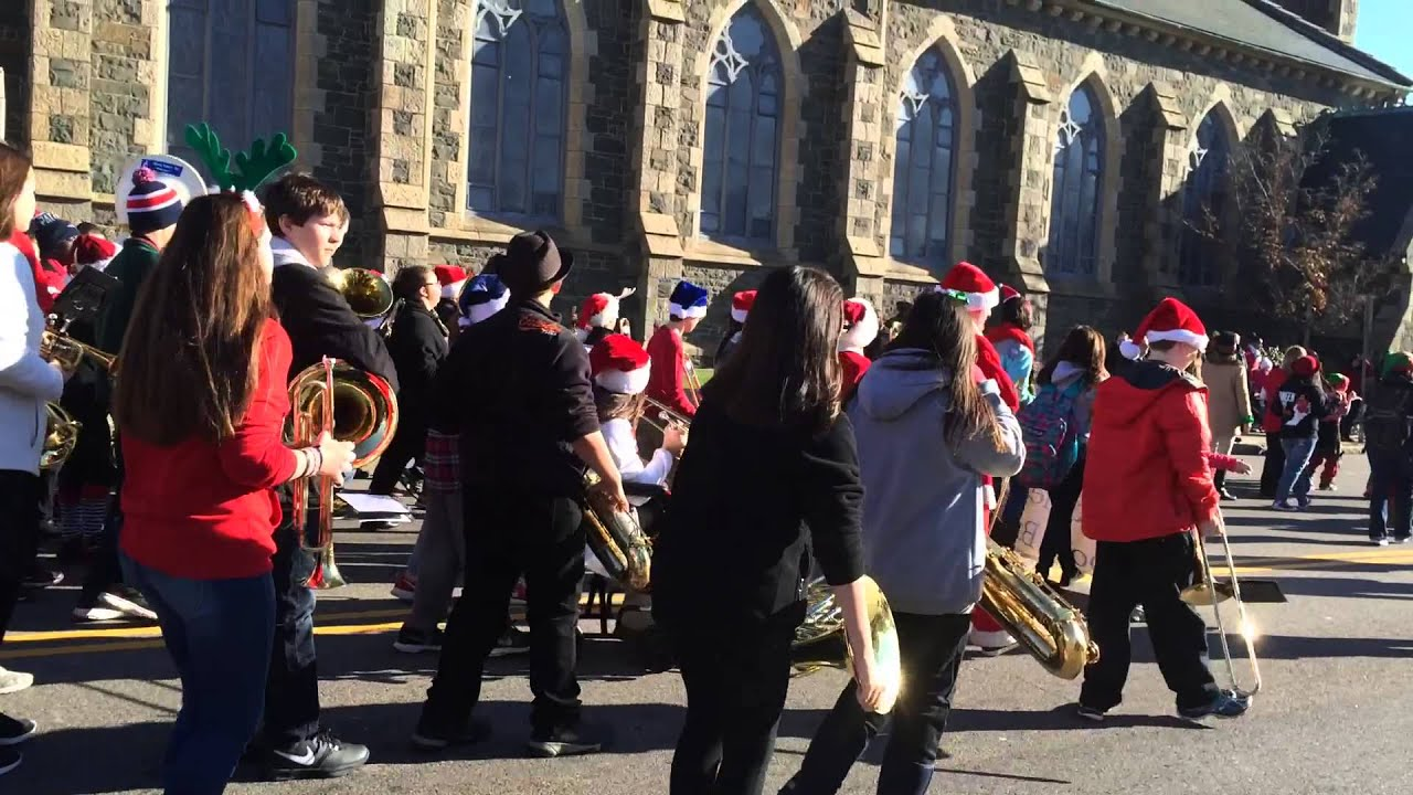 Taunton Christmas Parade with Jenny marching in the band on ...
