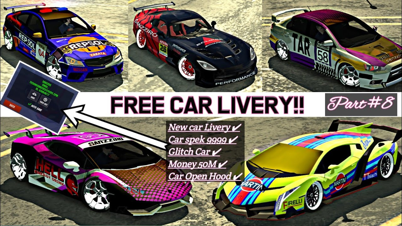 Free Account Car Livery New Part 8 Car Parking Multiplayer Version 4 7 4 Youtube