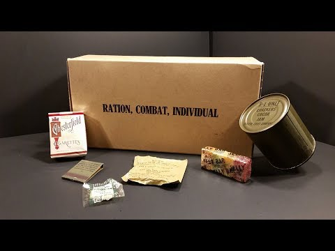 1957 Ration Combat Individual RCI US 24 Hour MRE Review Eating 60 Year Old Food Meal Ready to Eat