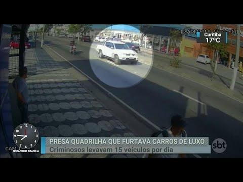 Quadrilha especializada em furtos de carros de luxo é presa em SP | SBT Brasil (05/07/18)
