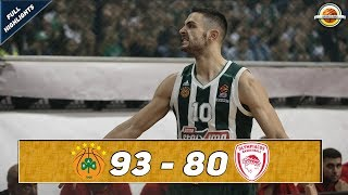 Panathinaikos OPAP Athens - Olympiacos Piraeus |93-80| ● Full Highlights ● Round 6