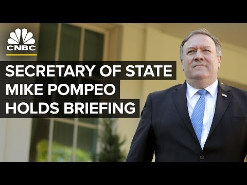Secretary of State Mike Pompeo Holds Press Briefing - Oct. 23, 2018