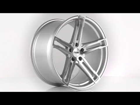 TSW Alloy Wheels- Mechanica Silver with Mirror Cut Face