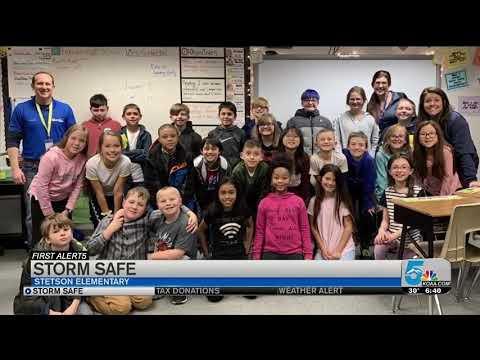 Storm Safe visits Stetson Elementary School