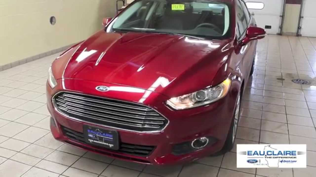 2016 Ruby Red Ford Fusion Eau Claire Wi Youtube