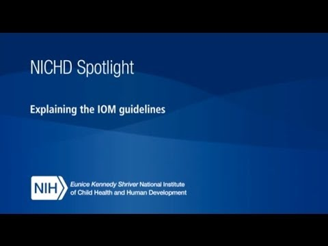 NICHD Spotlight Interview with Cathy Spong: Explaining the Institute of Medicine (IOM) Guidelines