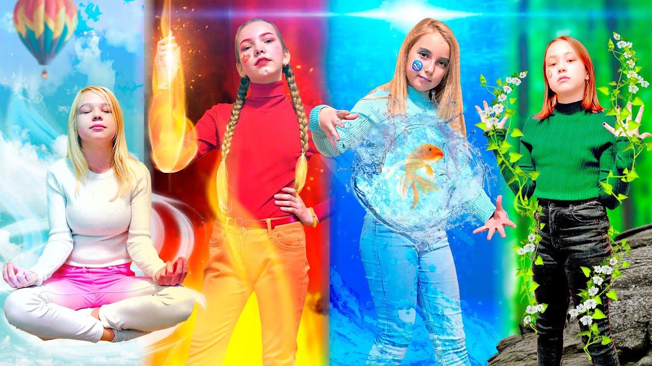 Девушка огонь, вода, воздух и земля! Пранк 4 стихий превратился в реальность?