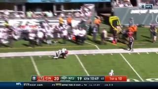 A.J. Green Beats Revis with Spectacular Fingertip Grab!   Bengals vs. Jets   NFL