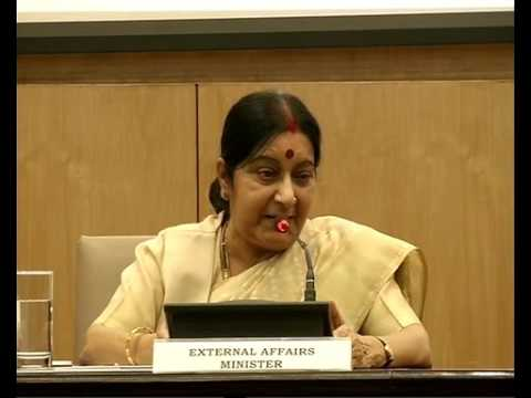 EAM Sushma Swaraj annual Press Conference at Jawahar Nehru Bhawan, New Delhi: 19.06.2016)