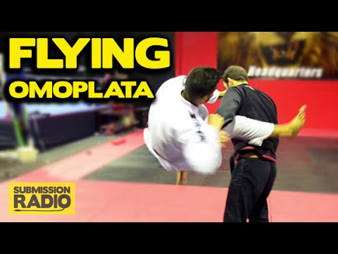 How to do a FLYING Omoplata   BJJ SAMBO