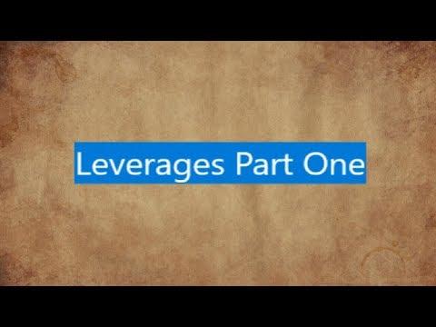 CA Inter/IPCC - Leverages - Part One