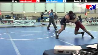 James Carucci vs. Laike Gardner at 2013 ASICS University Nationals - FS