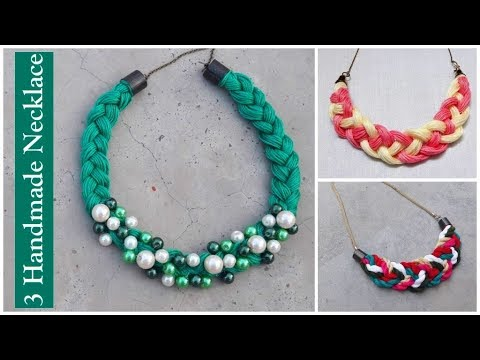 3 Handmade Necklace Ideas How To Make Thread At Home