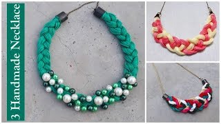 3 Handmade Necklace Ideas | How To Make Thread Necklace At Home |Creation&you