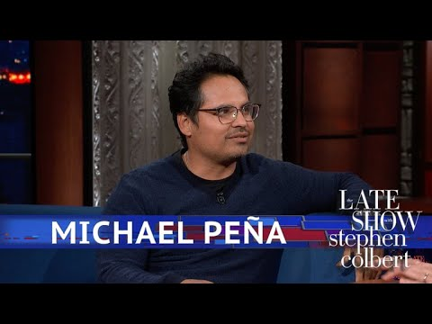 Michael Peña Talks Chicago Hot Dogs With Colbert