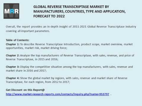 Reverse Transcriptase 2017 to 2022 Global Market Trends, Share and Size Forecast to 2022