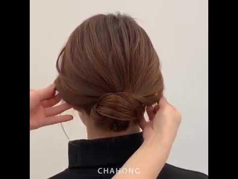Hướng dẫn búi tóc thấp thanh lịch