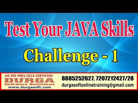 Java Tutorials | Test Your JAVA Skills | Challenge - 1 | by DURGA Sir thumbnail