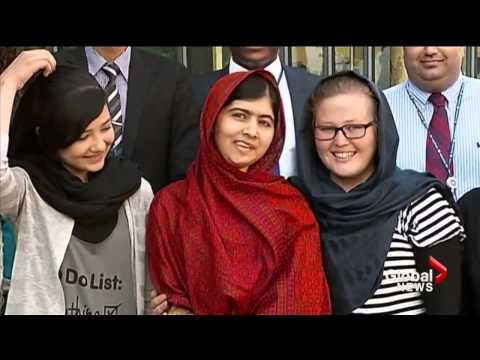Pakistani Activist Malala Yousafzai Shares Nobel Peace Prize Win
