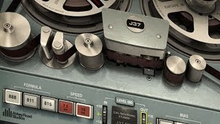 Demonstrating the Waves J37 analog tape emulation plug-in and comparison with a real tape recorder