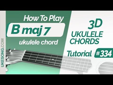 ukulele-chords---bmaj7-|-3d-ukulele-chords-tutorial-#334