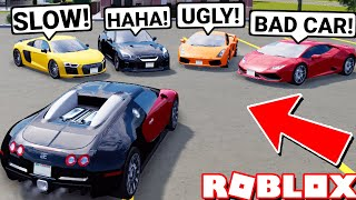Mean Greenville Super Car Gang Say My Bugatti Sucks! Then This Happened.. (Roblox)