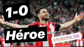 Athletic 1 Barcelona 0. Rugió Aduriz. Análisis. Video